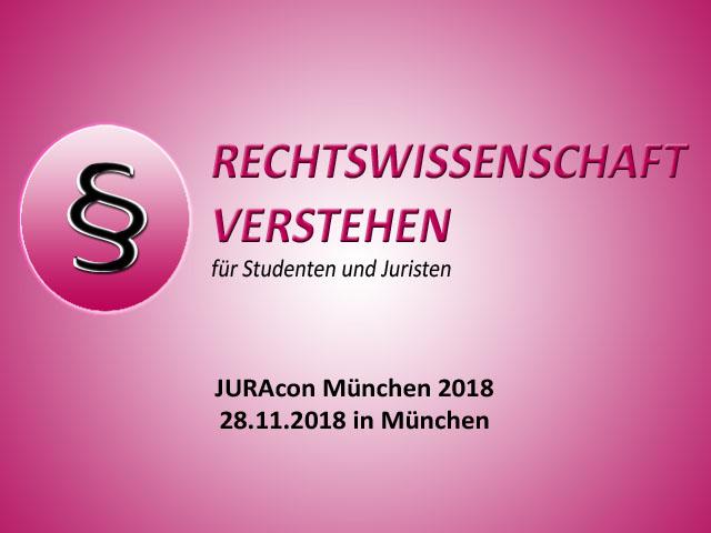 JURAcon München 2018 - 28.11.2018 in München | Rechtswissenschaft Blog
