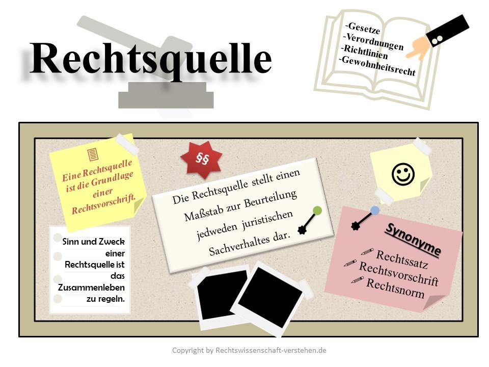 Rechtsquelle Definition & Erklärung | Rechtslexikon